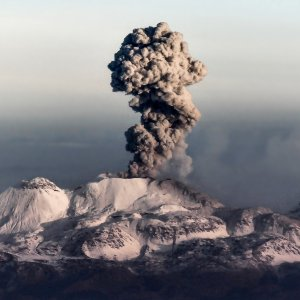 Eruption du volcan Sabancaya au pérou - Canyon de Colca