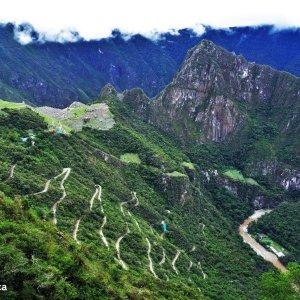 Vue sur le Machu Picchu - Chemin de l'Inca