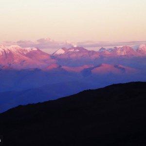 Ascension Chachani - vue sur volcans