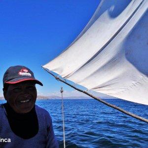 Voilier sur le Titicaca